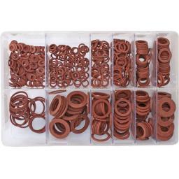 Assorted Box of  Fibre Washers METRIC (600) - Red Fiber Board Seals Plumbing Heating Seal Tap Boiler