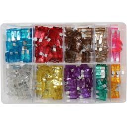 Assorted Box of  Blade Fuses (250)- Car Auto Motorbike Truck Lorry Wiring Electrical Auto Cable Wire