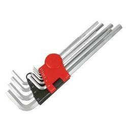 Silverline Hexagon Key Set - Metric 10pc (1.5-10mm) Hex Allen Key Expert Set Kit Allan Alan Alen