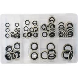 Assorted Box of Bonded Seal Washers (Dowty Washers) Metric Sealing Washer Hydraulic Oil Petrol Sealing Washers