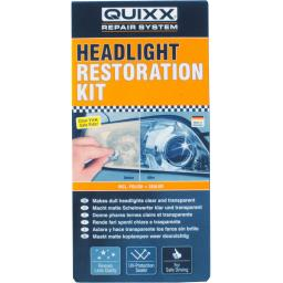 QUIXX Headlight Restoration Kit - Polish Sealing Kit Headlamp Light Lens Restore Sealer