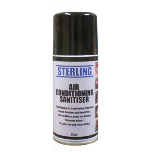 Sterling Air Con Sanitiser Bombs- Aerosol/Spray (150ml) - Odour Bomb Air Conditioning Neutraliser & Sanitiser Cleaner Car Van Valet