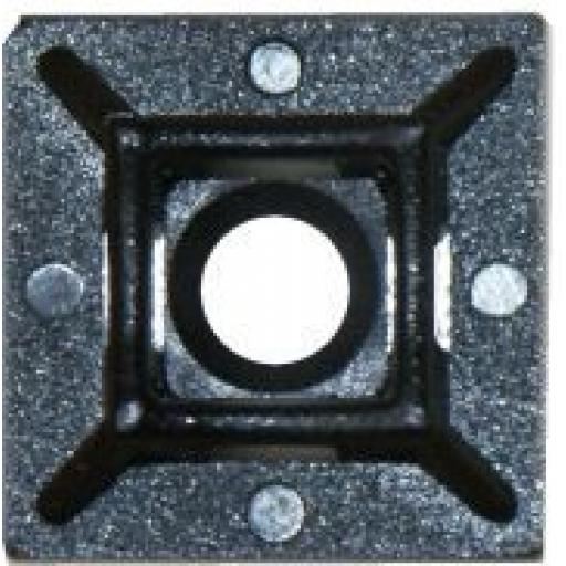 Adhesive Cable Ties Anchor 4.8mm Black - 4 Way Cable Tie Anchor Base Mount Holder Clamp Wire Wiring