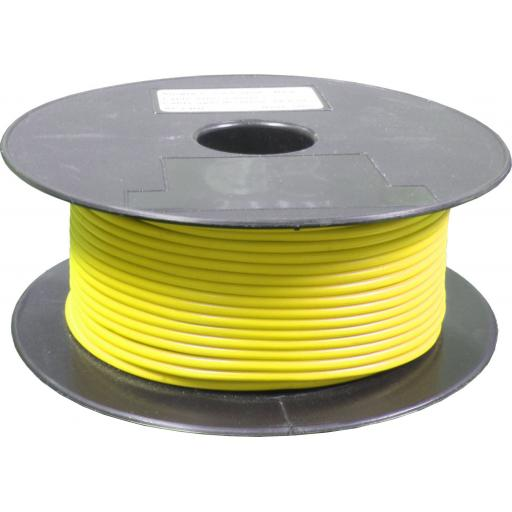 Single Core Cable 28/030 x 50m Yellow - Car Van Truck Tractor lorry Automotive Auto Electric Marine Cable Round Trailer Wire Wiring  PVC