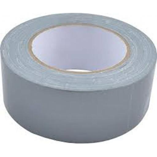 "Gaffer Tape 48mm x 50m SILVER - Duck Duct Cloth Waterproof Gaffer Gaffa Tape Black White Silver 2"" 50mm"