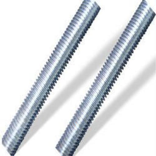 Screwed Rod 6mm (10)  - Threaded Bar Metric Steel Zinc Plated All Fully Thread Studding Rod Fastener
