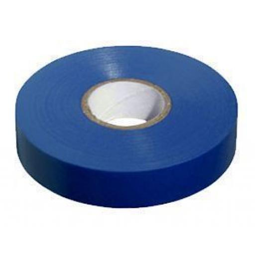 PVC insulation Tape BS3924 Blue 19mm X 20m - Wide Electrical Insulating Flame Retardant Cable Repair Electric Wiring Colour