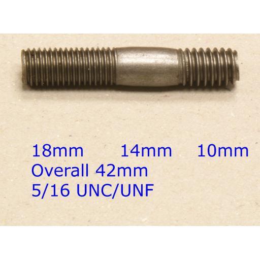 Stud 5/16 UNC/UNF x 1-5/8 - Austin/Rover/MG (20) Car Auto Exhaust Manifold Studs