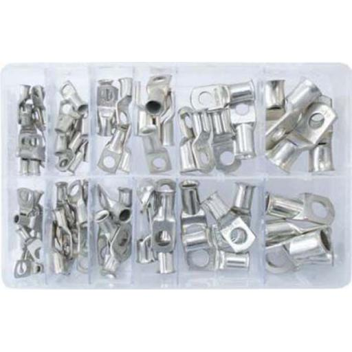 Assorted Box of  Copper Tube Terminals 10-70mm (78) - Assorted Copper Tube Terminals Terminal Battery Welding Cable Lug Eyelet Crimp