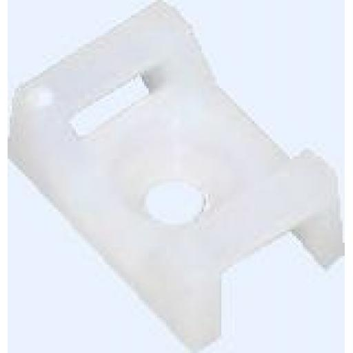 Cable Ties Cradle 5.0mm White - Base Saddle Cradle Mounts Bases Wire Clips Clamps Cable Ties Holder