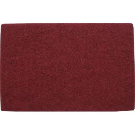 Hand Pads (Maroon) - Medium (10) - Flexible Non Woven Scrubbing Scouring Finishing Cleaning Abrasive Hand Pads