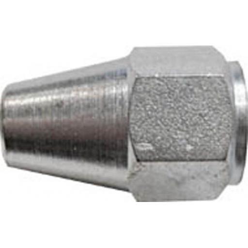 """Copper Brake Pipe Nuts 7/16"""" UNF female (25) - Car auto connectors Nuts Unions"""