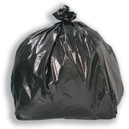 Roll of Heavy Duty Bin Bags (140 gauge) (25) Strong Bags Bin Liners Rubbish Scrap Waste Recycling