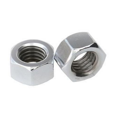 Steel Nuts 7mm (BZP) (50) - M7 Metric Standard Hex BZP use with bolts, washers, set screws,nuts,fasteners