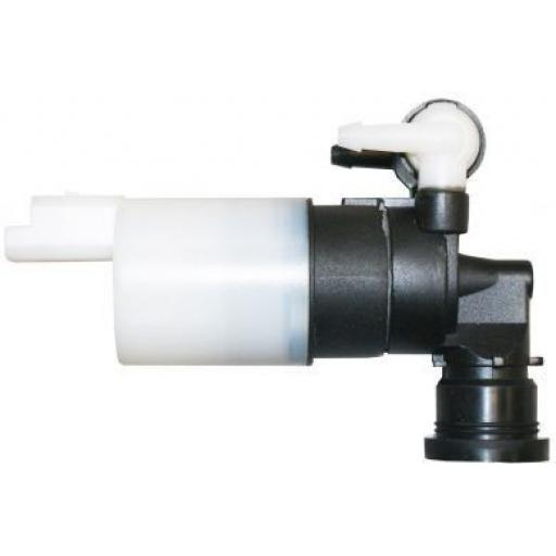 Windscreen Washer Pump (Twin Outlet) - Front Rear Windscreen Window Washer Pump Dual Twin Outlet