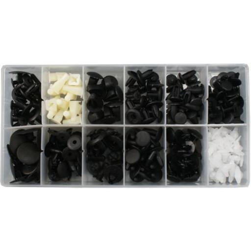 Assorted Trim Clips - Mazda (58pc) - Plastic Fastener Retainer Fixing Bodyshop Car Van Auto Crash Repair