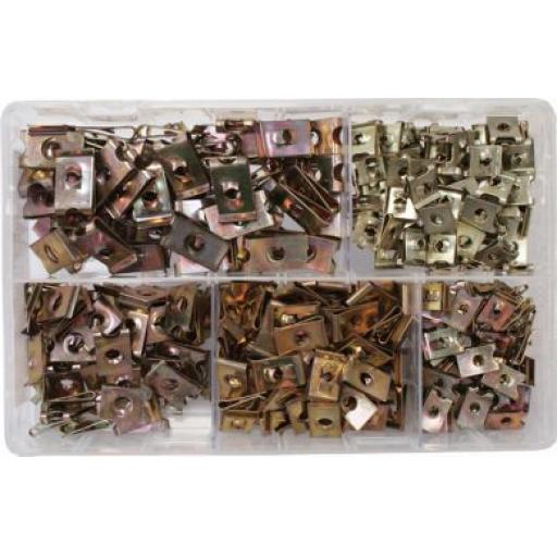 Assorted Speed Fasteners BZP (300) U Nuts Self Tapping Screw Spire U Clips Interior Body Trim Panel Fixing Fastener