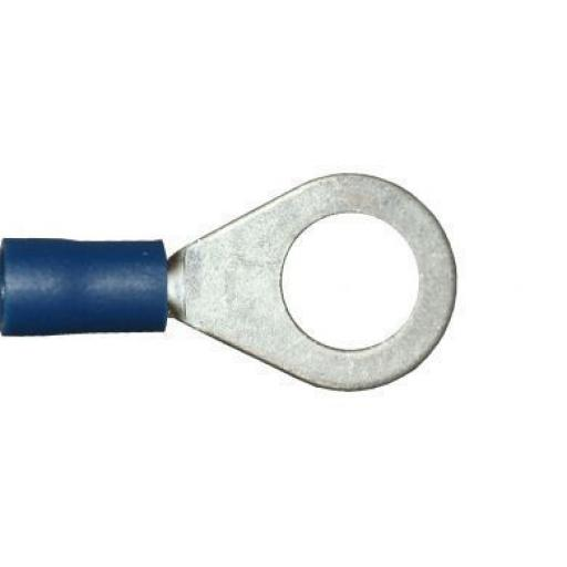 Blue Ring 8.4mm (5/16) (crimps terminals) -  Blue Car Auto Van Wiring Crimp Electrical Crimping Ring Connectors - Auto Electric Cable Wire