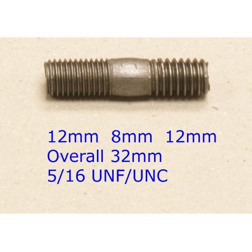 Stud 5/16 UNC/UNF x 1-1/4 - Austin/Rover/MG (20) Car Auto Exhaust Manifold Studs