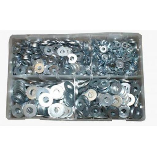 Assorted Stainless Steel Metric Flat Washers (650) used with Nuts and Flat Washers 8.8 High Tensile Fasteners Bolts Set Screws Metric