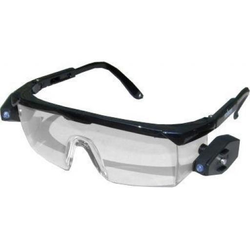 Safety Glasses with LED Lights - Safety Glasses Spectacles Over Specs Eye Protection