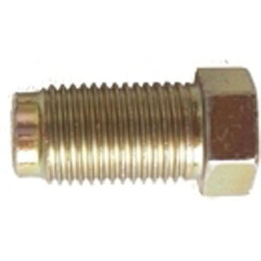 Copper Brake Pipe Nuts 10mm x 1mm Long Male (50) - Car auto connectors Nuts Unions