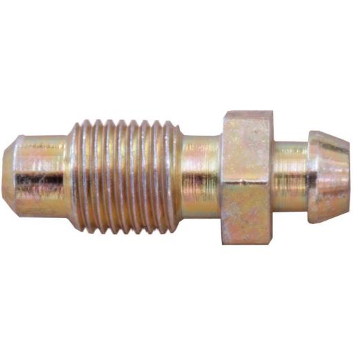 Brake pipe Bleed Screws 10mm x 1mm Short (10)  - Brake Line Roll Tube Piping Joint Union Hosing Car Van Auto Garage