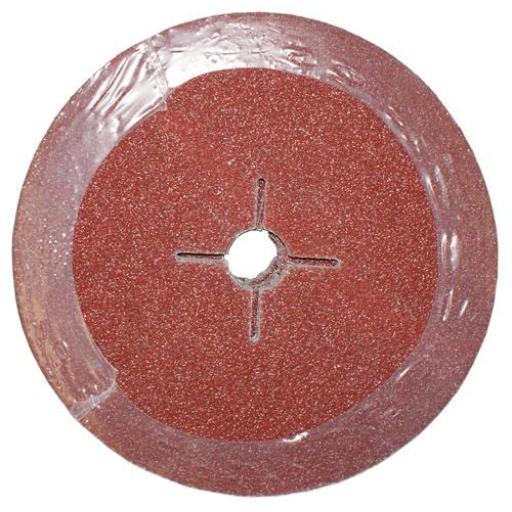 Fibre Sanding Discs 115mm (36 Grit) 25 pk - Abrasive backing pad Grinding Disc Angle Pad Sander for Fiber Bodyshop car Repair