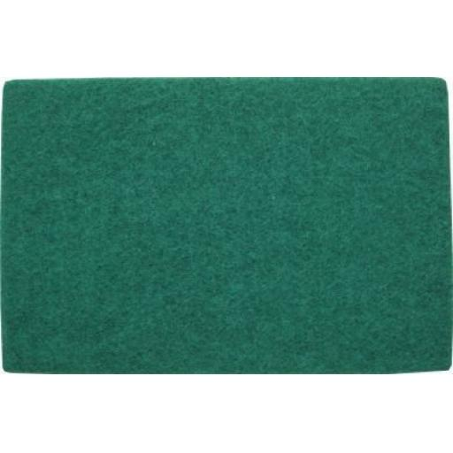 Hand Pads (Green)- Coarse (10) - Flexible Non Woven Scrubbing Scouring Finishing Cleaning Abrasive Hand Pads