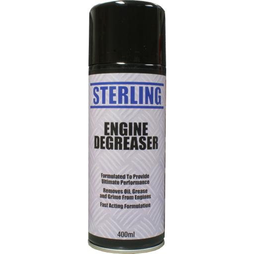 Sterling Engine Degreaser - Aerosol/Spray (400ml) -  Removes oil, grease and grime from engines
