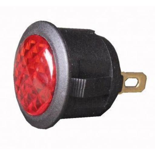 L.E.D Warning Light (12v) - Red- Car Auto Dashboard Dash Boat Van 12V Electric wiring Cable wire