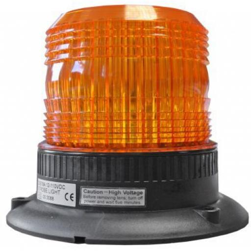 LED Strobe (100MM DIAM) - Car Truck Emergency Strobe Amber Flashing Beacon Breakdown 12/24V