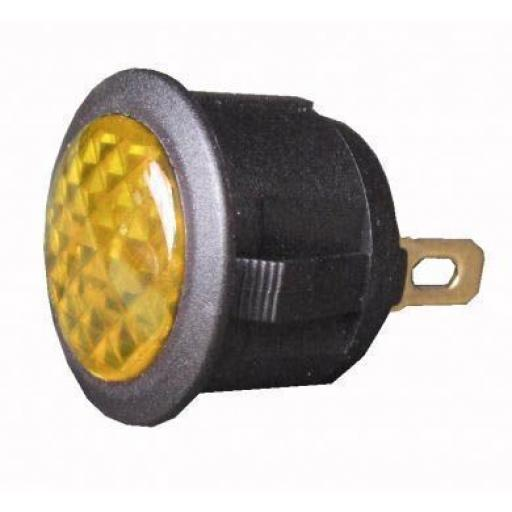 L.E.D Warning Light (12v) - Amber- Car Auto Dashboard Dash Boat Van 12V Electric wiring Cable wire