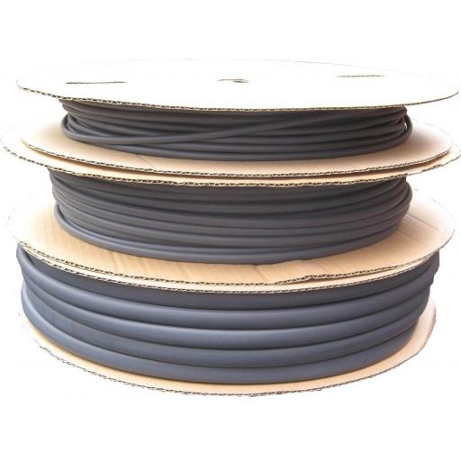 Heatshrink Tubing 6.4mm Black x 60m Roll -Car Auto Wiring cable Electrical Black Heat Shrink Tube Sleeving