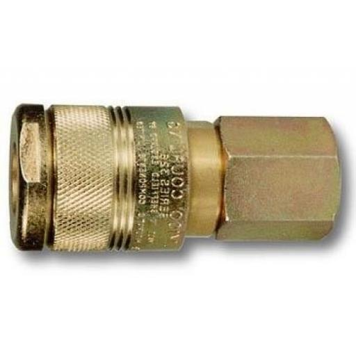 "PCL Airline 100 Series - Female Thread 1/2"" BSP - Coupling Connector Air Line Hosing Hose Compressor Fitting Air tool"