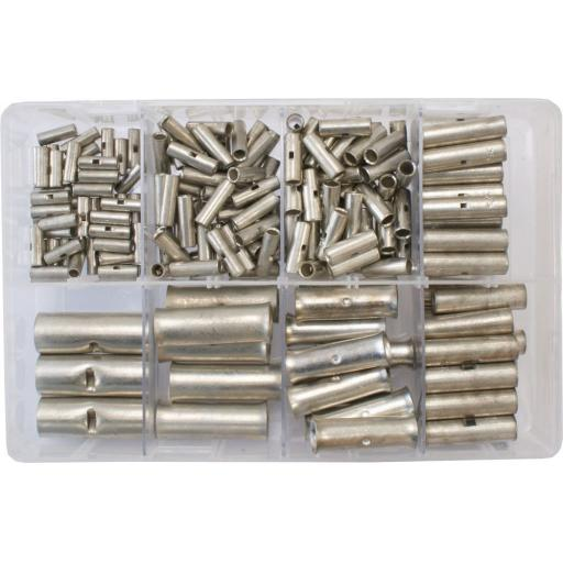 Assorted Box of  Copper Butts 6-95mm - Copper Tube Butt  Connectors Terminals Straight Joiner Crimp Solder Battery Welding cable