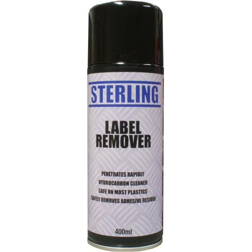 Sterling Label Remover, Aerosol/Spray (400ml) - Remove Label Gum Goo Tape Adhesive Price Tags DIY
