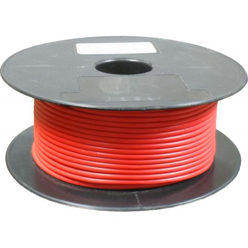 Single Core Cable 65/030 x 50m Red - Car Van Truck Tractor lorry Automotive Auto Electric Marine Cable Round Trailer Wire Wiring PVC