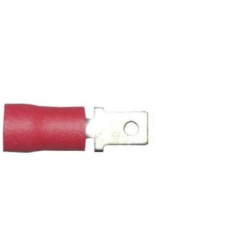 Red Tab (male) 4.8mm(crimps terminals)  - Red Car Auto Van Wiring Crimp Electrical Crimping Spades Connectors - Auto Electric Cable Wire