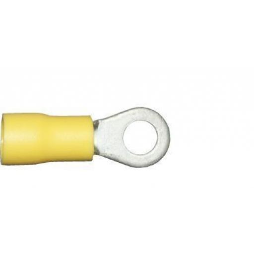 Yellow Ring 5.3mm (2BA) (crimps terminals) - Yellow Car Auto Van Wiring Crimp Electrical Crimping Ring Joiner Connectors - Auto Electric Cable Wire