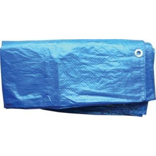 Tarpaulin 2.7 x 1.8m - Waterproof Ground Sheet with Eyelets Lightweight Camping Concert Cover Tarp