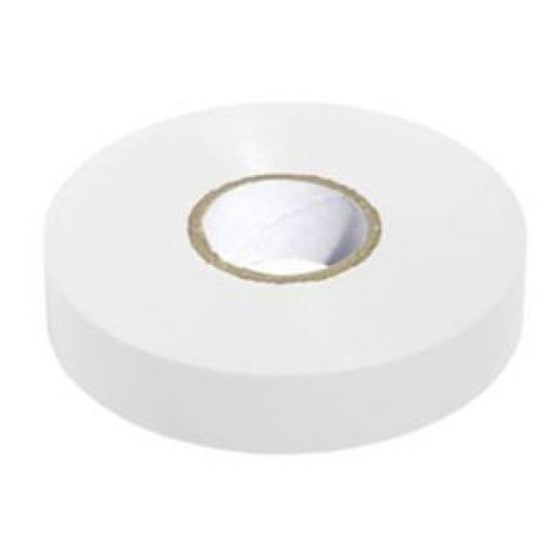 PVC insulation Tape BS3924 White 19mm X 20m - Electrical Insulating Flame Retardant Cable Repair Electric Wiring Colour