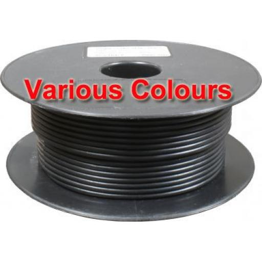 Thin Wall Cable 28/0.30 (2.0mm≤) - Car Van Truck Tractor lorry Automotive Auto Electric Marine Cable Round Trailer Wire Wiring  PVC  25 amp- Single (50m) - Car Van Truck Tractor lorry Automotive Auto Electric Marine Cable Round Trailer Wire Wiring  PVC