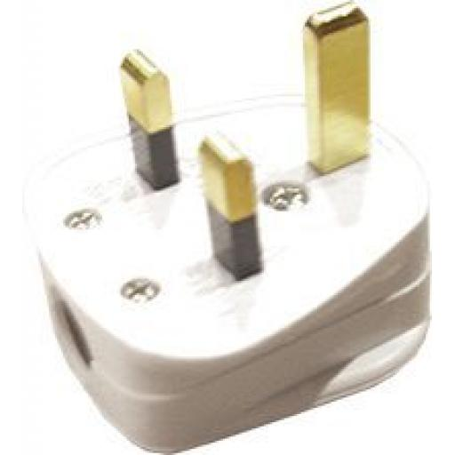 Plug Top (13A) White (10) Mains Plug 13 AMP 3 Pin Electrical Appliance Fuse Plug Top BS1363