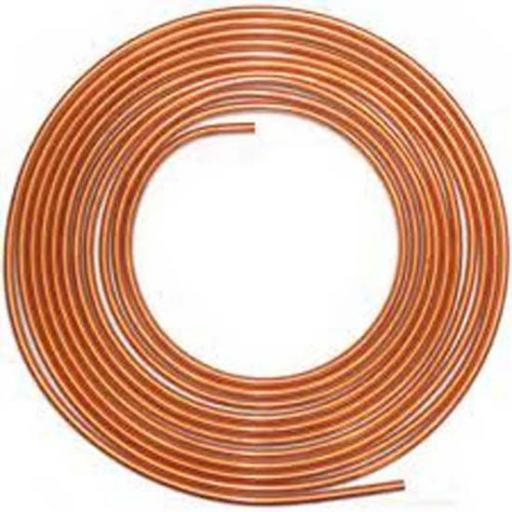"Soft Copper Brake Pipe 3/16 x 25ft - Line Roll Tube Piping Joint Union 3/16"" Hosing Car Van Auto Garage"