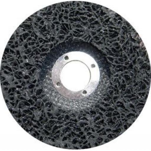 "Polycarbide Discs 115mm (4 1/2"") - Nylon Mesh Disc Wheel Abrasive Paint & Rust Removal Shank"
