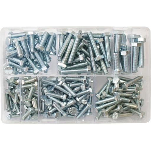 Assorted Setscrews 3/16-3/8 UNF (200) used with Nuts and Flat Washers 8.8 High Tensile Fasteners Bolts Set Screws Imperial