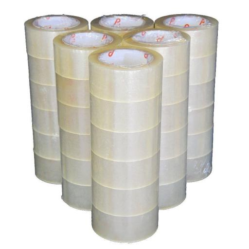 Parcel Tape 50mm x 66m (Clear) - Taping Parcel Packing Packaging Cellotape Carton Box Sealing Warehouse