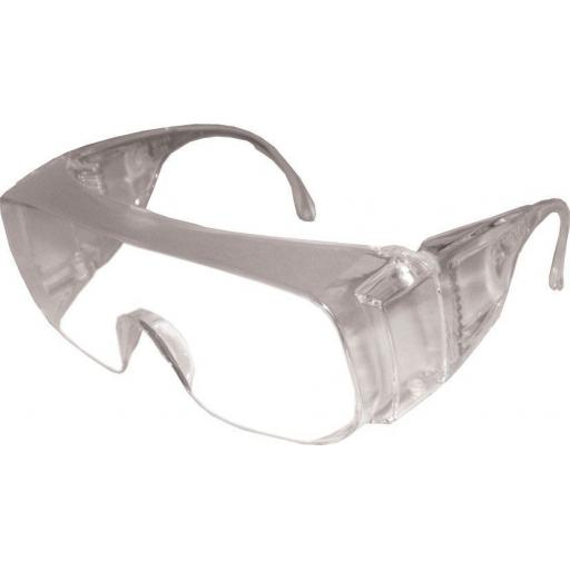 Polycarbonate Overspecs (BS EN166) Visitor Safety Glasses Spectacles Over Specs Eye Protection
