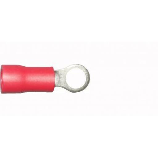 Red Ring 3.7mm (4BA)(crimps terminals)  - Red Car Auto Van Wiring Crimp Electrical Crimping Ring Connectors - Auto Electric Cable Wire